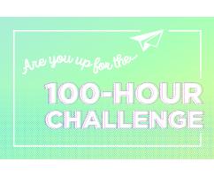 Logo that says 100 hour challenge
