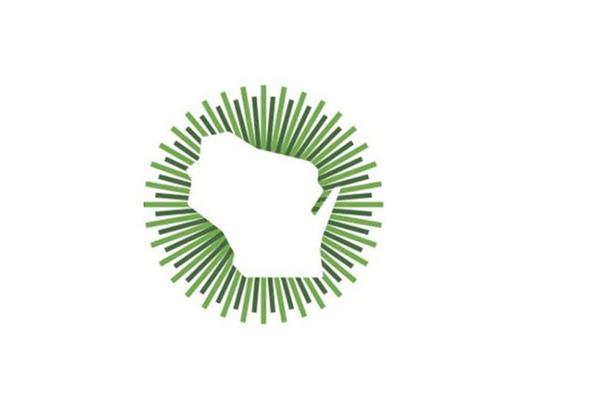 Logo of Wisconsin in Green circle