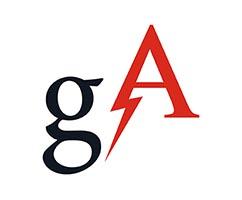 Logo that says GA