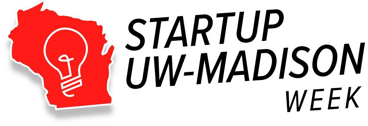 Logo that says startup week UW Madison
