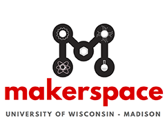 Logo that says University of Wisconsin Makerspace