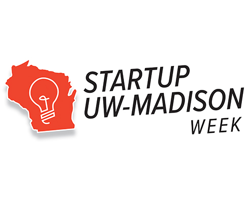 Logo that says UW-Madison Startup Week
