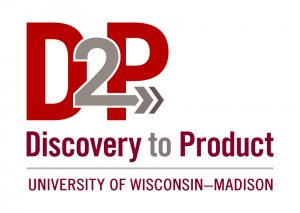 Logo that says discovery to product D2P
